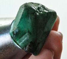 44Ct Natural Brazilian Green Emerald Crystal Facet Rough Specimen YMDa1615