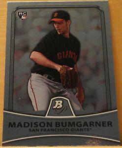 2010 Bowman Platinum Madison Bumgarner Rookie Card San Francisco Giants #23