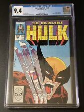 Incredible Hulk #340 CGC 9.4 Awesome McFarlane Wolverine Cover