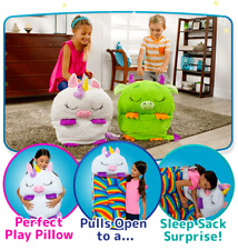 """Happy Sweet Nappers Play Pillow&Sleep Sack Surprise 54"""" Tall x 20"""" Wide Ages 2-8"""