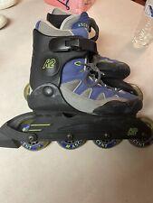K2 Ascent Inline Skates Roller Blades Soft Boot Green Black Mens Size 6