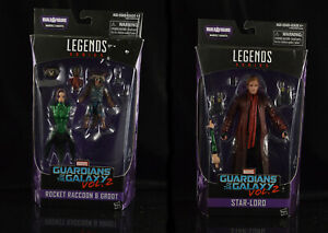 Marvel Legends Guardians of the galaxy vol 2 Lot Star Lord and Rocket Raccoon