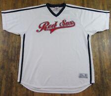 BOSTON RED SOX White Polyester True Fan Series Baseball Jersey Size XL