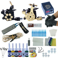 Starter Professional Complete Tattoo Kit Tattoo Rotary Machine Guns 6 Color Inks