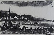 Maurice DE VLAMINCK (1876-1958): Lithographie originale. Epreuve sur chine,