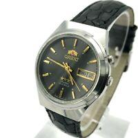 Vintage Men's Watch ORIENT Crystal Formal Japan Stainless Steel English German