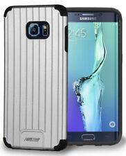 Argent Mat Métallique Fin Duo-Shield Étui COQUE pour Samsung Galaxy S6 Edge Plus