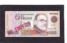 Uruguay  Unissued  5000 Nuevos pesos P-68A  1989 AU/UNC