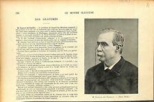 Antonio Canovas del Castillo Homme Politique Espagne tué Anarchiste GRAVURE 1897