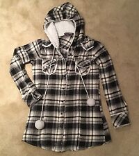 Women's Checked Shirt Jacket Size S Black And White LAYERS PARIS