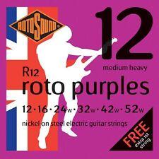 Rotosound R12 Roto violettes cordes pour guitare électrique Gauge 12-52 - made in the uk