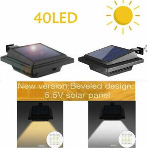 Kabellos 40LEDs Solarlampe für Dachrinne Außen Zaunleuchte Wandlampe Beleuchtung