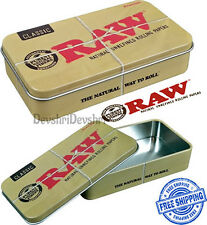 Raw CLASSIC UNHINGED METAL Tobacco Camping - Storage - Sewing - Survival Tin
