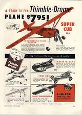 1957 PAPER AD L M Cox Thimble Drone Gas Gasoline Engine Airplane Model Prop Rod