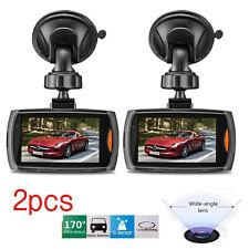 "2x Full HD 1080P 2.4"" Car DVR Recorder CCTV Dash Camera G-sensor Night Vision H9"
