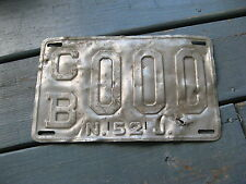 1952 52 NEW JERSEY SAMPLE LICENSE PLATE TAG BUY IT NOW= ORIGINAL PROTOTYPE