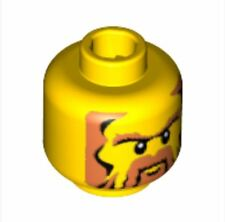 4276244_LEGO Dwarf Mini Head No. 433 of CAS357(53935)_Bright Yellow(x2)