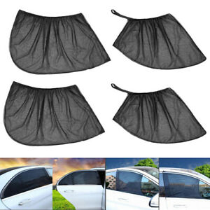 Auto Car SUV 4 Door Front Rear Side Window Sun Visor Screen Mesh Cover Sunshades