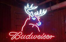 """New Budweiser Deer Wall Decor Neon Sign 17""""x14"""""""