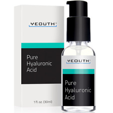 Hyaluronic Acid Serum for Face by YEOUTH 100% Pure Clinical Strength Anti Aging
