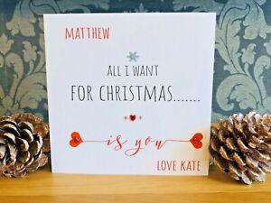 Personalised Christmas Card Husband Wife Girlfriend Boyfriend Fiancé ❤️