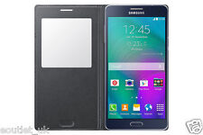 Samsung S-View ventana abatible PREMIUM FUNDA PROTECTORA para Galaxy A7 - Negro