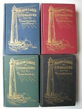 BEACON LIGHTS OF LITERATURE Volumes 1-4 Rudolph Chamberlain 1934 HC ILLUS - 10