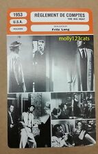 US Film Noir The Big Heat Fritz Lang Glenn Ford Lee Marvin French Trade Card
