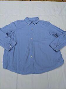 Vintage L.L. Bean Men's Oxford Button Down Shirt XL Light Blue 100% Cotton