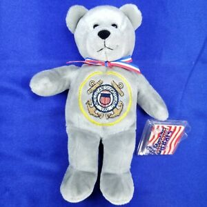 "NWT 2001 The Orginal Holy Bears United States Coast Guard Military Bear 9"" Plush"
