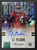 2015 Prestige Rookie Autographs Gold #287 T.J. Yeldon Auto /50 - NM-MT