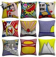 Retro POP ART Cushion Covers! Bold Roy Lichtenstein Colour Comic Book 45cm Gift