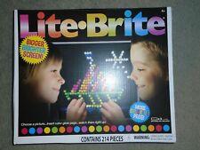 Basic Fun LITE-BRITE Magic Screen Set 206 Pegs & 6 Templates Light Bright - NEW.