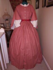 Civil War Reenactment Drop Sleeve Day Dress Size 16