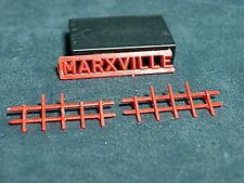 Marxville Toy Factory Partial Sign and Fence O-S Scale HTF
