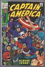 Silver Age Marvel Captain America #112 April 1969 1st Series Jack Kirby Scan