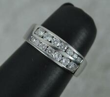 Superb Platinum and Vs Diamond Two Row Half Eternity Band Ring