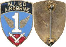 1° ALLIED AIRBORNE, (1° R.C.P. 1944 1945) verrou pivotant, foncé, Sans (4324)