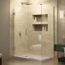 "DREAMLINE 29.5"" X 30"" UNIDOOR PLUS 3/8"" GLASS FRAMELESS CORNER SHOWER ENCLOSURE"
