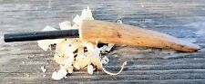 Hand made Survival, Campin Fire Steel - Black Deer Antler Handle New Made in USA