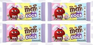 4 M&M's Mystery Mix Eggs Candy Milk, Peanut Butter & Double Chocolate 8 OZ