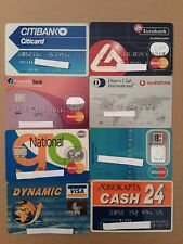 8 Expired Credit Cards For Collectors - MasterCard - VISA Lot (#5)