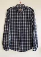 Gorgeous Blue Mix Check Long Sleeve Shirt from Threadbare - Size Small - BNWT!