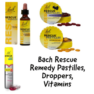 Bach Rescue Remedy Pastilles, Droppers, Vitamins