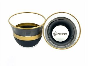 Gold Glass Arabic Coffee Cups For Six Person