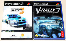 2 PLAYSTATION 2 giochi Bundle-WRC 3 & V-RALLY 3-FIA World Rally Championship