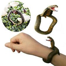 2pcs Halloween Scary Prop Toy Jewelry Cobra Snake Bracelet Animal Bracelet Gift