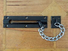 """LARGE FRONT DOOR IRON SECURITY CHAIN"" KNOBS HANDLES KNOCKER BRASS LOCK BOLT"
