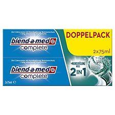 Blend-a-med Complete 2in1 plus Mundspülung Weiß Zahncreme, 6er Pack (6 x 150 ml