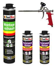SET Pistolenschaum 1 x 750 ml + 1  Metall Schaumpistole + 2 Reiniger Bauschaum